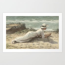 Summer on The Dunes - Niels Frederik Jensen Art Print