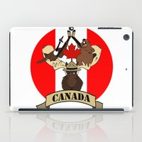 canada iPad Cases featuring CANADA by scarah