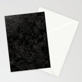 Black Silk Moire Pattern Stationery Cards