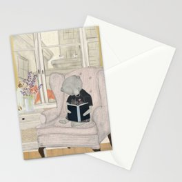 reading time Stationery Cards