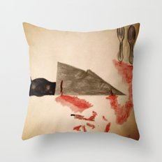 The Fork ran away with the Spoon Throw Pillow