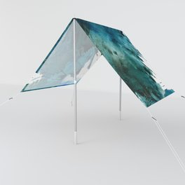 Scenic Route [2]: a pretty, minimal abstract piece in blue and green by Alyssa Hamilton Art Sun Shade