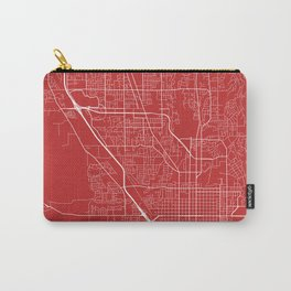 Provo Map, USA - Red Carry-All Pouch