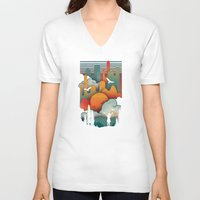 sun V-neck T-shirts featuring Sun Rise by The Child