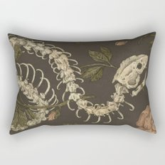 Snake Skeleton Rectangular Pillow