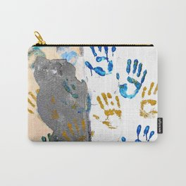 Handprints on the wall Carry-All Pouch