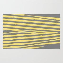 Yellow & Gray Stripes Rug