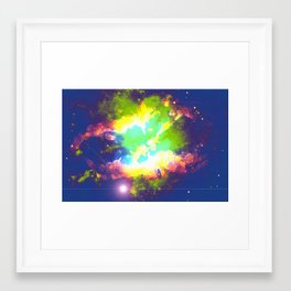 In The Beginning There Was Light Framed Art Print