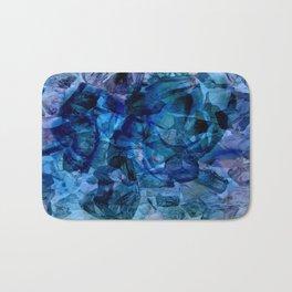 Blue Chrystal Ice Abstract Bath Mat
