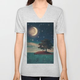A Quiet Place for Two Unisex V-Neck