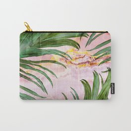 Palm leaf on marble 01 Carry-All Pouch