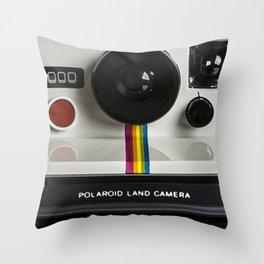 Camera Photorealism Painted II Throw Pillow