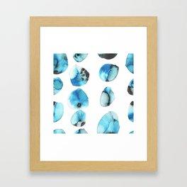 watercolor polka dots seamless pattern Framed Art Print