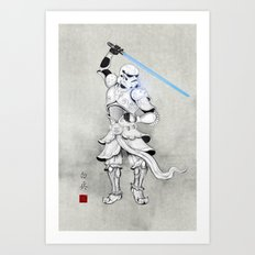 Samurai Trooper Art Print