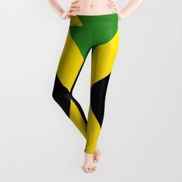 Flag of Jamaica-Jamaican,Bob Marley,Reggae,rastafari,weed,cannabis,ganja,america,south america,ragga Leggings