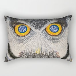 Dreaming of freedom - owl eyes Rectangular Pillow
