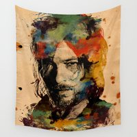 daryl Wall Tapestries featuring Daryl Watercolor by Tracey Gurney