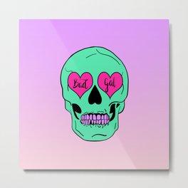 Bad Gal Skull Metal Print