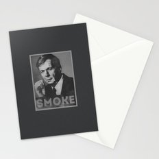 Smoke! Funny Obama Hope Parody (Smoking Man)  Stationery Cards