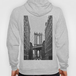 Brooklyn Bridge in New York, USA | Photography print | abstract travel art | Tipical NY building architecture photo Art Print Hoody