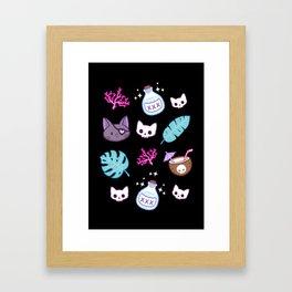 Pirate Cat // Black Framed Art Print