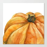 pumpkin Canvas Prints featuring Pumpkin by Cindy Lou Bailey