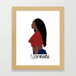 Normani Kordei 2.0 Framed Art Print