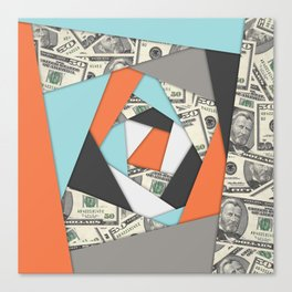 Layered Money Canvas Print