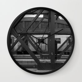 NYC Subway Brooklyn Wall Clock