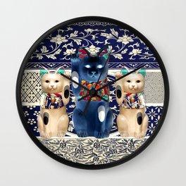Maneki Neko (Lucky Cat) Trio II Wall Clock