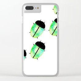 Emerald Beetles March Clear iPhone Case