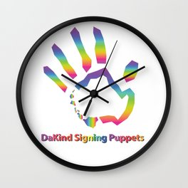 DaKind Signing Puppets Wall Clock