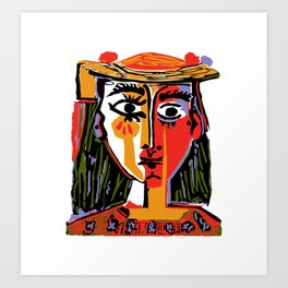 Picasso - Woman's head #4 Art Print