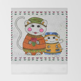 Mama & Baby Mouse Throw Blanket