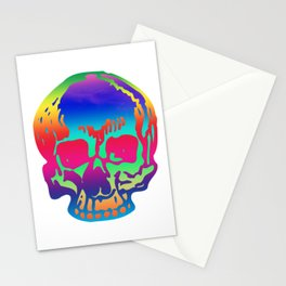 Psychedelic Pirate Skull Color Spectrum, Vibrant Skull, Super Smooth Super-Sharp 7200px x 7200px PNG Stationery Cards
