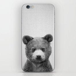 Baby Bear - Black & White iPhone Skin
