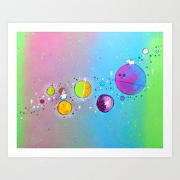 Playtime Among the Stars Art Print