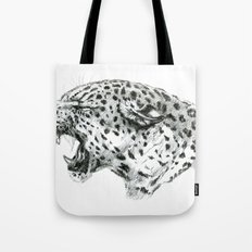 Panther roar sketch Tote Bag