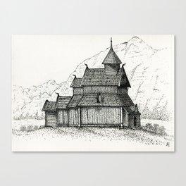 Stave Church Canvas Print