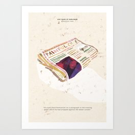 A painful Case - 100 Years of Dubliners Art Print