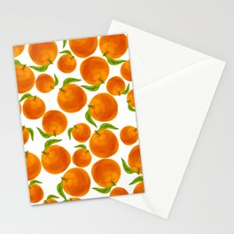 Oranges Make You Happy Stationery Cards