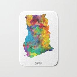 Ghana Watercolor Map Bath Mat