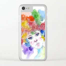 Simple Girl Clear iPhone Case