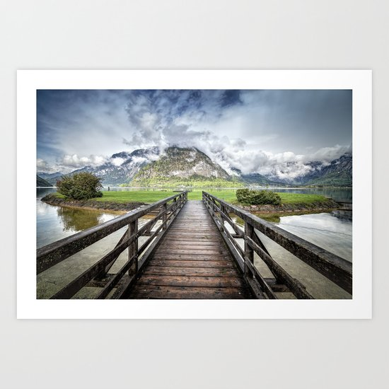 Hallstatt lake Art Print