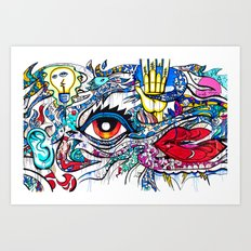 5 SENSES Art Print
