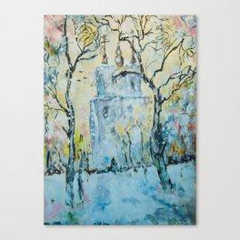 winter cityscape Canvas Print