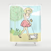 icecream Shower Curtains featuring Icecream by Marisa Marín