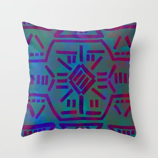 Moonrise - Turquoise Throw Pillow