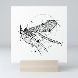 Dragonfly Handmade Drawing, Made in pencil and ink, Tattoo Sketch, Tattoo Flash, Blackwork Mini Art Print