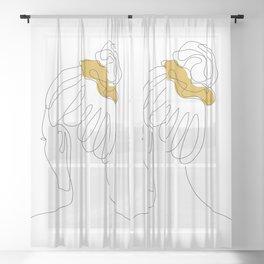 Scrunchie Girl Sheer Curtain